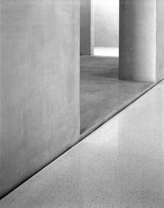 Precision in detail. A gap in the floor seperating floor and wall inside the Kolumba museum by Peter Zumthor.