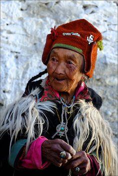 Elderly Woman from Tibet