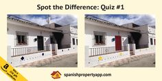 "Guess the differences between the two images in this fun quiz by Spanish Property App! Spot The Difference Competition Quiz 1 to *WIN* Amazon Gift Cards! ""Like"", ""Follow"" and ""Share"" - Full details on the link provided."