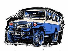 Toyota Landcruiser sketch — Philip Williamson