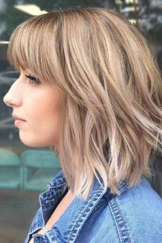 Hairstyles Ideas with Bangs for Round Face