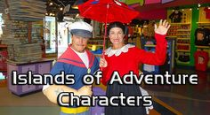 Universal Islands of Adventure Characters | KennythePirate.com