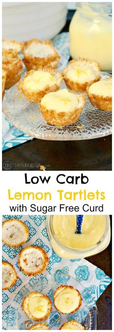 Low carb lemon tartlets with a coconut shell and creamy sugar free lemon curd. These delightful bites are delicious for any special occasion!