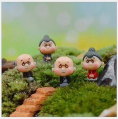 wholesale 50pcs Old Granny/fairy garden gnome animals/moss terrarium home desktop decor/crafts/bonsai/doll house/miniatures/ DIY