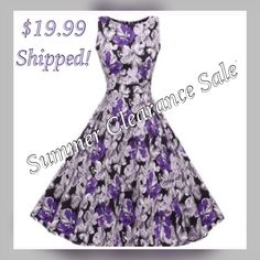 Making space for our Fall inventory.✨Vintage Look Swing Dress👗Brand new with tags, vintage look purple Floralcolor swing dress. Size 12, made of polyester. One piece, zipper in back, belt tie in back, beautiful dress. 🌸$19.99 + FREE SHIPPING. Ships immediately! 📦 | Shop this product here: http://spreesy.com/UyleesBoutique/97 | Shop all of our products at http://spreesy.com/UyleesBoutique    | Pinterest selling powered by Spreesy.com
