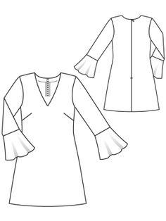 ba225b5ad6d Сукня розкльошена з воланами  купити викрійки