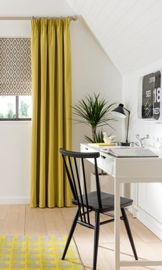 Lift A Monochrome Interior By Using An Extra Colour, Adding Yellow Is A  Great Way