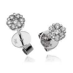 Illusion Solitaire Stud Earrings 0.30 carat of Diamonds set in 18 Carat White Gold