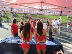 The Wizards girls also made and appearance with the Mystics Promo Squad at the WMZQ Fest.