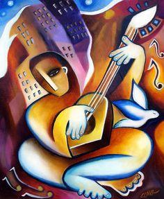 Pintor cubista Stephanie Clair