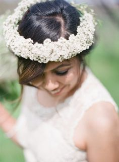 Flower crown: http://www.stylemepretty.com/canada-weddings/ontario/2015/05/05/whimsical-garden-chic-inspired-wedding-in-ontario/ | Photography: Nadia Hung - http://nadiahungphotography.com/