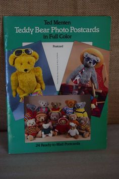 24 Vintage 1985 Full Cover Postcards Ted Menten TEDDY BEAR PHOTO POSTCARDS #Dover