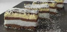 Kókuszhercegnő, a világ legfinomabb süteménye, amit 30 perc alatt elkészíthetsz! Hungarian Desserts, Romanian Desserts, Romanian Food, Hungarian Recipes, My Recipes, Sweet Recipes, Cookie Recipes, Dessert Recipes, Vegan Kitchen