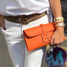 Gorgeous HERMÈS Clutch . and FENDI Charm