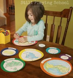 Teaching children their address and location in the world with a geography craft activity