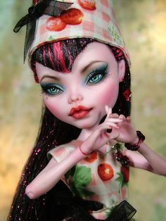 "OOAK Custom Monster High Draculaura Repaint ""Paulette"" by Karen Kay 