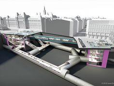Subway Vienna, visualization. Heart Of Europe, U Bahn, 3d Visualization, Vienna, U2, News