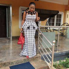 Creative Ankara Top and Skirt Design . Creative Ankara Top and Skirt Design African Dresses For Women, African Print Dresses, African Print Fashion, African Attire, African Wear, African Women, African Prints, Trendy Ankara Styles, Kente Styles