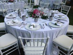 Mesa de boda, blanco, Finca la Concepcion