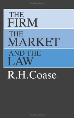The Firm, the Market, and the Law by R. H. Coase,http://www.amazon.com/dp/0226111016/ref=cm_sw_r_pi_dp_qvVrtb0CN6RWSYJ0