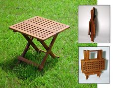 Folding Chess Table - The a handy garden accessory, it's light weight frame folds flat to create a handle, making it perfect for picnics, the beach or the garden.