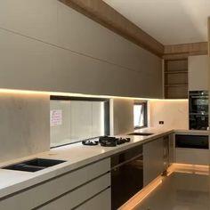 Kitchen Pantry Design, Luxury Kitchen Design, Kitchen Cabinet Design, Home Decor Kitchen, Interior Design Kitchen, Home Kitchens, Contemporary Kitchen Cabinets, Contemporary Kitchen Designs, Modern Kitchen Cupboards