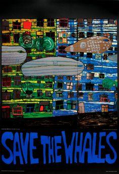 Friedensreich Hundertwasser : Save the Whales