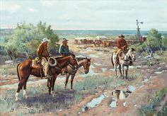James Boren, Texas Cow Camp, oil on canvas, 28 x 40, $19,500. For more information about this painting, please contact the Great American West Gallery at 817-416-2600. SOLD