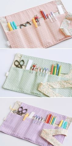 Pencil case ideas to sew, sweet as a candy