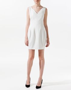 V-NECK DRESS - Dresses - Woman - ZARA