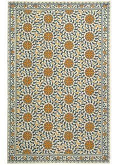 """Chelsea Prairie Pinwheel Ivory and Blue Wool Rug @Layla Grayce-------8'9""""X11""""9----------925$$ WOOL"""