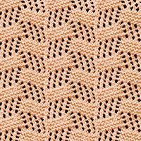 Tilted Block Eyelet Lace stitch, free knitting stitch pattern. The stitch can be used for afghans, cowls, wraps, scarves, shawls, rugs and more.