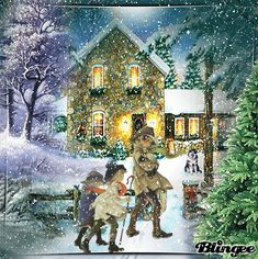 Winter night - Nuit d'hiver Winter Night, Fall Winter, Autumn, Just Magic, Winter Images, Animation, Vintage Winter, Vintage Christmas Cards, Winter Wonderland