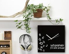Whatever Wall Clock by Decodyne http://amzn.to/2fS4Ykl #whatever #clocks #late #timer #Decodyne #animated #homedecor #digital #display #amazon #products #reviews #buy #cheap http://readr.me/a-13j
