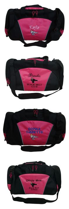 Other Combat Sport Clothing 73988: Duffel Bag Personalized Karate Girl Martial Arts Kung Fu Tae Kwon Do Asian Black -> BUY IT NOW ONLY: $45 on eBay!