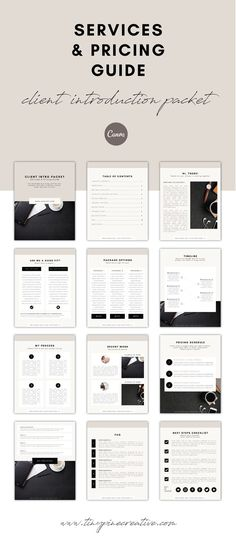 Looking for the ultimate Services Guide Template for Canva? Send potential clients this beautifully designed client services & pricing guide template. Click here to learn more! #canva #template Web Design, Page Design, Design Layouts, Blog Design, Brand Design, Business Checks, Business Tips, Online Business, Survey Template