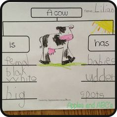 Emergent writing idea for farm project.