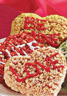 Rice Krispies Valentine Cut Out Treats Make These Bright Colorful Heart Shapes For
