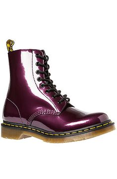 The Pascal 8-Eye Boot in Purple Spectra Patent by Dr. Martens use rep code: OLIVE for 20% off!