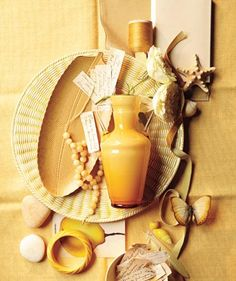 Color palette inspiration: Shades of yellow. (Click through for buying info.)