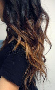 20 Blue Hair Color Ideas for Dark Hair - Hair Colour Style Diy Ombre Hair, Black Hair Ombre, Hair Color Dark, Ombre Hair Color, Dark Ombre, Light Ombre, Subtle Ombre, White Hair, Black Hair Blue Tips