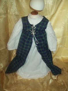 Toddler plaid over dress size 2T by MladysCoutorier on Etsy, $17.95