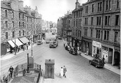 Looking down Hawkhill... Temple Lane on the right hand side...