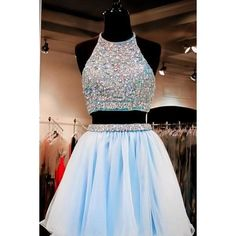 Prom Dresses For Teens, Custom Made Two-Piece Crystal Beading Embroidered Tulle Evening Dress, Homecoming Dresses, Graduation Dresses Short prom dresses and high-low prom dresses are a flirty and fun prom dress option. Semi Dresses, Cute Prom Dresses, Sweet 16 Dresses, Dresses 2016, Semi Formal Dresses For Teens, Bridesmaid Dresses, Blue Grad Dresses, Pretty Dresses For Teens, Wedding Dresses