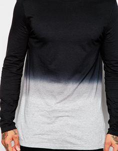 15cffcb2c Image 3 of ASOS Longline Long Sleeve T-Shirt With Dip Dye