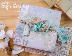 Enjoy your life: Shabby chic! Сolor challenge Lindy's Stamp Gang!