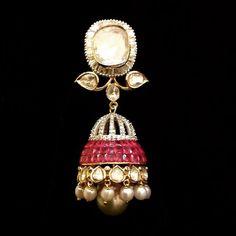 Love. #nuffsaid #ruby #polki #pearls #diamonds #gold #finejewelry #finejewellery #jewelry #jewellery #pakistanibride #weddingjewellery #weddingseason #bridaljewelry