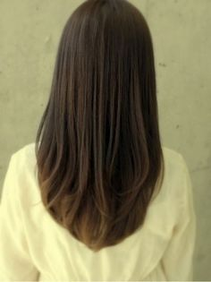Brunette Balayage for Thick Hair - 50 Cute Long Layered Haircuts with Bangs 2019 - The Trending Hairstyle Haircuts For Long Hair, Layered Haircuts, Long Hair Cuts, Straight Hairstyles, Hairstyles Haircuts, Round Haircut, Angled Haircut, U Haircut, Long Straight Layered Hair