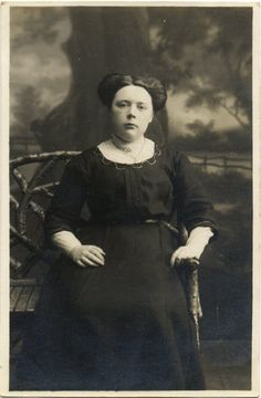 Vintage Real Photo Postcard of a Young Woman c. 1900s. £2.00, via Etsy.