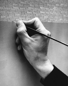 Roman Opalka, a French-born Polish painter who painted numbers. In 1965 he began painting a process of counting-from one to infinity. The tiny numbers were painted in horizontal rows. Hand Reference, Drawing Reference, Pose Reference, Roman Opalka, Poesia Visual, Handwritten Text, Life Paint, Figure Drawing, Les Oeuvres